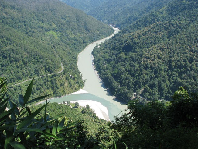 Confluence of Teesta and Rangit